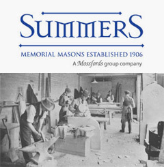 Summers Memorial Masonry Yard 1920