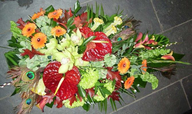 Exotic Spray Funeral Flowers