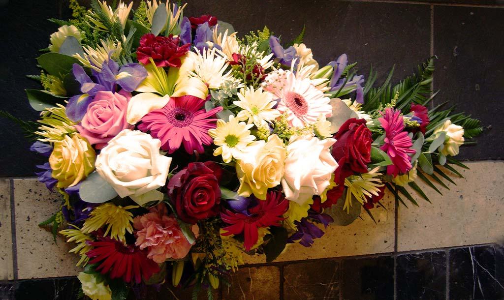 Teardrop Spray Funeral Flowers