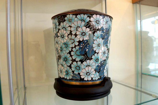 Flowery Marble Urn