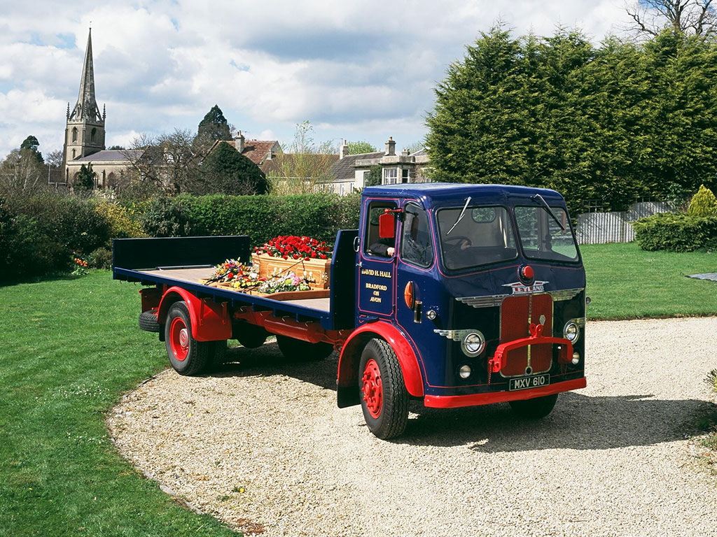 Flatbed funeral lorry