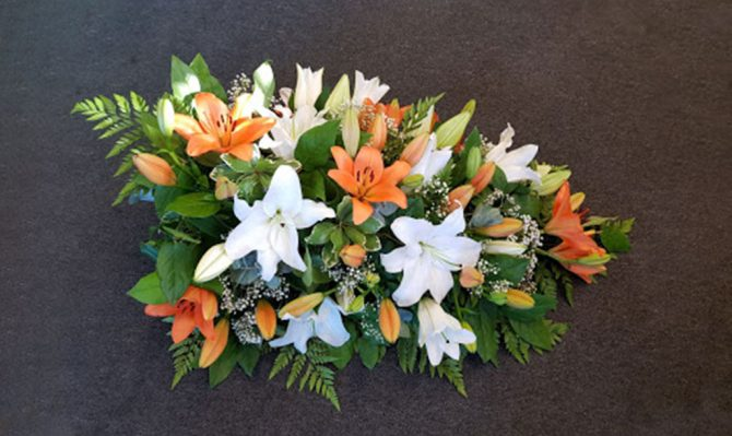 Lily Spray Funeral Flowers